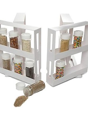 """n mere skab arrangør glidende plads saver krydderi 2 reoler, plast 8 """"x 8"""" x4 """""""