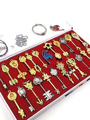 אביזרים נוספים קיבל השראה מ סיפור אגדה קוספליי אנימה אביזרי קוספליי שרשרת מפתחות מוזהב סגסוגת זכר / נקבה