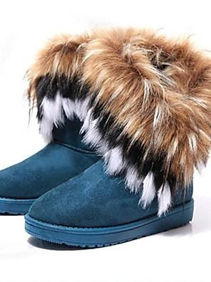 Sort / Gul / Grøn - Flad hæl - Kvinders Sko - Snowboots - Syntetisk læder - Kontor / Hverdag - Støvler