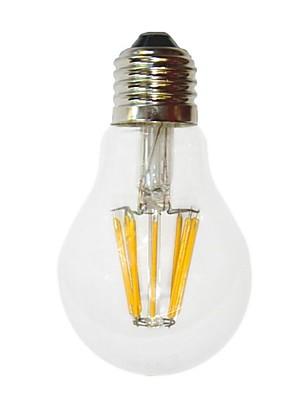 6W E26/E27 LED-gloeilampen G60 6 COB 700 lm Warm wit Decoratief AC 220-240 V