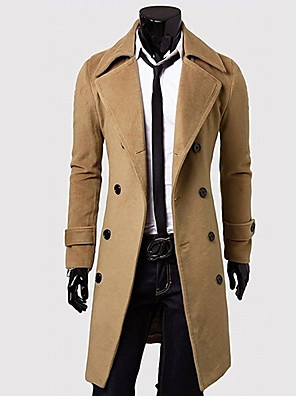 Laka herremode afslappet tweed frakke