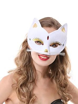 Máscara Fantasias Festival/Celebração Trajes da Noite das Bruxas Branco Cor Única Máscara Dia Das Bruxas Feminino PVC