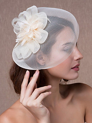 נשים אורגנזה כיסוי ראש-חתונה קישוטי שיער / פרחים / כובעים