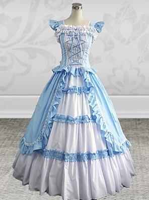 Jednodílné/Šaty Gothic Lolita Princeznovské Nebesky modrá Lolita Příslušenství Šaty Patchwork Pro Dámské Bavlna