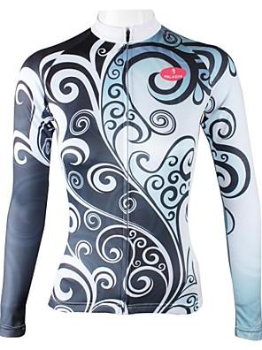 PALADIN® חולצת ג'רסי לרכיבה לנשים שרוול ארוך אופניים נושם / ייבוש מהיר ג'רזי / צמרות 100% פוליאסטר פרחוני  בוטני אביב / קיץ / סתיורכיבה