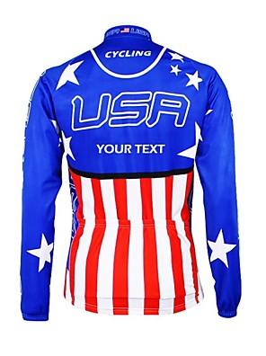 KOOPLUS® חולצת ג'רסי לרכיבה לנשים / לגברים / יוניסקס שרוול ארוך אופניים נושם / רוכסן עמיד למים / לביש / רצועות מחזירי אורג'רזי / מותאם