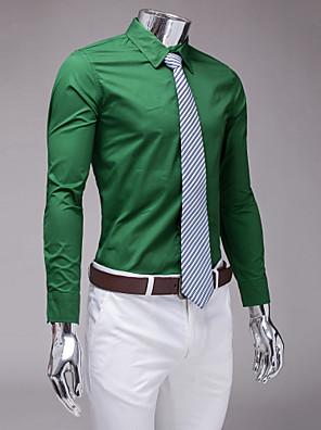 tmavě zelená slim fit košile s dlouhým rukávem