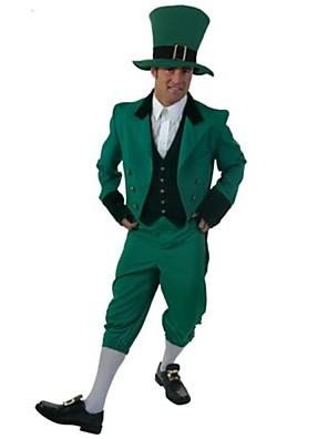 Cosplay Kostýmy / Kostým na Večírek Vánoční santa obleky Festival/Svátek Halloweenské kostýmy Zelená JednobarevnéKabát / Vesta / Halenka