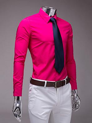 fuchsie slim fit košile s dlouhým rukávem