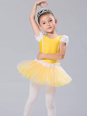 בגדי ריקוד לילדים חלקים עליונים / שמלות וחצאיות / טוטוס בגדי ריקוד ילדים שיפון / ספנדקס שרוול ארוך CM:110:50,120:53,130:56,140:59,150:61