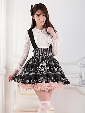 negro corona androse franela lolita princesa falda encantadora