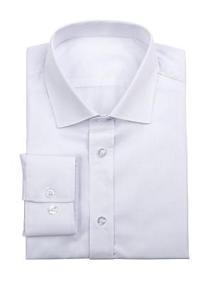 חולצה מוצקה כותנה לבנה