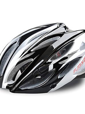 fjqxz 23 otvory eps + pc černá integrálně tvarovaný na kole helmu (58 až 63 cm)