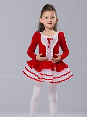בגדי ריקוד לילדים חלקים עליונים / שמלות וחצאיות / טוטוס בגדי ריקוד ילדים שיפון / ספנדקס / טול / קטיפה שרוול ארוך