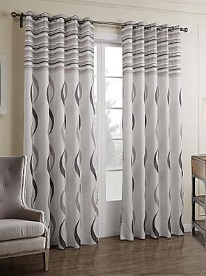 To paneler Vindue Behandling Barok Soveværelse Polyester Materiale Gardiner forhæng Hjem Dekoration For Vindue