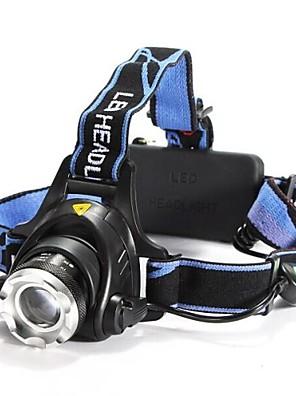 Osvětlení Čelovky LED 1200 Lumenů 3 Režim Cree XM-L T6 18650 Nastavitelné zaostřování / Voděodolný / Dobíjecí / Odolný proti nárazům