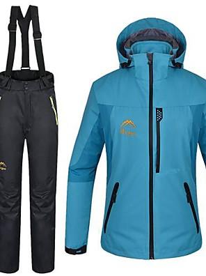 Mulheres Jaquetas 3-em-1 / Jaquetas em Velocino / Lã / Jaqueta / Jaqueta Feminina / Jaqueta de Inverno / Conjuntos de Roupas/TernosEsqui