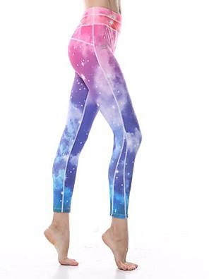 מכנסיים יוגה תחתיות / מכנסיים / טייץ רכיבה על אופניים / חותלות / מכנסי שלושה רבעיםנושם / נמתח לארבעה כיוונים / תחושה מוחזקת / איזור דחיסה