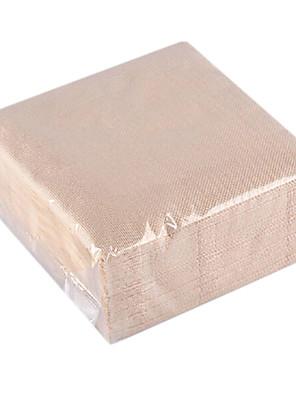 50 Papier Carré / Rectangulaire Serviettes