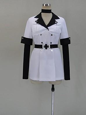 Inspirovaný Akame Ga zabít! Ace Anime Cosplay kostýmy Cosplay šaty Patchwork Biały Krátké rukávy Vrchní deska / Klobouk / Punčocháče