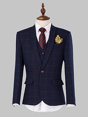 Obleky Slim Jednořadé s jedním knoflíkem 3 ks Námořnická