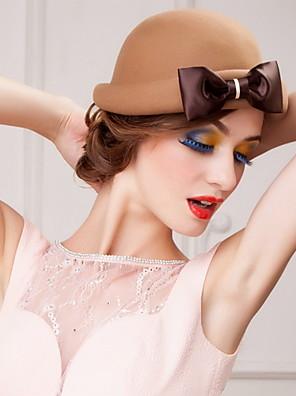 נשים / נערת פרחים צמר כיסוי ראש-אירוע מיוחד / קז'ואל / משרד וקריירה / חוץ כובעים