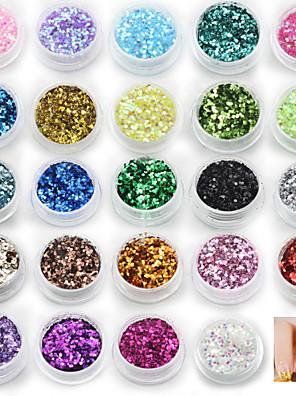 24 Colors - 18*12 - Más - Absztrakt - Ujj/Toe - Csillogás