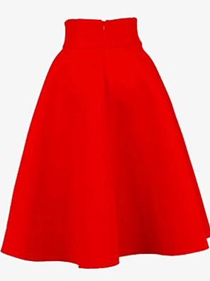 WeiMeiJia® Women's Casual Pleats Medium A- Line Skirts (Polyester)