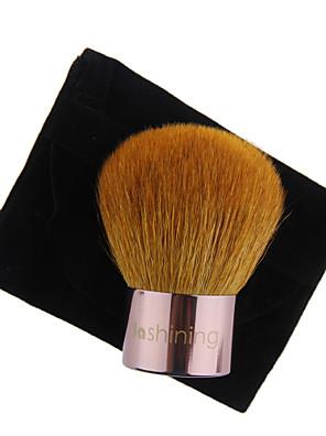 lashining escova de pó grande kabuki profissional para o presente rosto beleza ferramenta maquiagem uma flanela preta