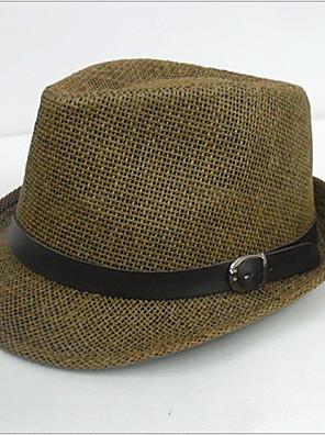 גברים עבודה/יומיומי קיץ קש כובע מגבעת