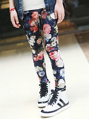 מכנסיים כותנה / אקריליק / שיפון / תערובת כותנה / סריגה / לייקרה / כותנה אורגנית קיץ צבעוני הילדה של