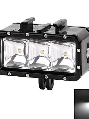 suptig 30m 3-režimy vedl nepromokavé videa osvětlení, potápění světla stanovené pro GoPro hero4 / 3 + / 3/2 - černá