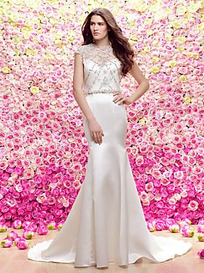 Lanting Bride® Mořská panna Svatební šaty Svatební šaty dva v jednom / Lesk a flitry / Svatební šaty s bolerkem Dlouhá vlečka KlenotSatén