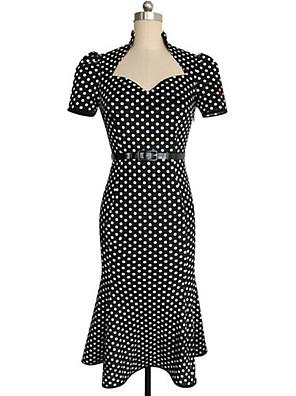 שמלה - מידי - כותנה - וינטאג'/קז'ואל