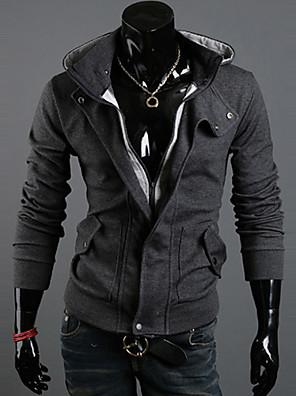 Egyszínű Férfi Activewear szettek , Hosszú ujjú , Casual / Sport / Molett méret , Pamut keverék / Poliészter