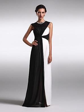 TS couture® официально платье вечера плюс размер / изящная оболочка / колонки Бато длиной до пола шифон с крестом крест
