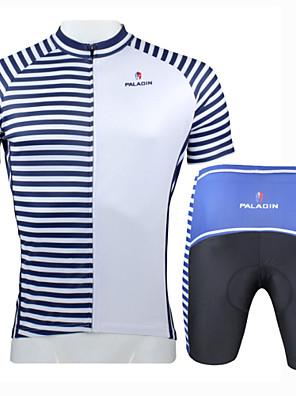 חולצת ג'רסי ומכנס קצר לרכיבה לגברים שרוול קצר אופנייםנושם / ייבוש מהיר / עמיד אולטרה סגול / מבודד / חדירות ללחות / עמיד לאבק / נגד חשמל