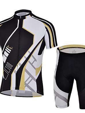 CHEJI® חולצת ג'רסי ומכנס קצר לרכיבה לגברים שרוול קצר אופנייםנושם / ייבוש מהיר / עמיד אולטרה סגול / מבודד / חדירות ללחות / עמיד לאבק / נגד