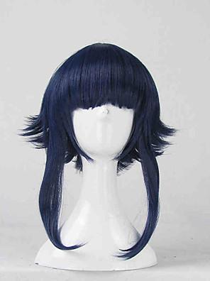 פאות קוספליי Naruto Hinata Hyuga כחול קצרה אנימה פאות קוספליי 35 CM סיבים עמידים לחום נקבה