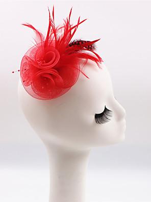 Vrouwen / Bloemenmeisje Veren / Polyester Helm-Bruiloft / Speciale gelegenheden / Informeel / Buiten Fascinators 1 Stuk