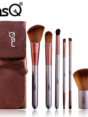 6 Set di pennelli Capelli sintetici / Pennello di capra Viso / Labbro / Occhi MSQ