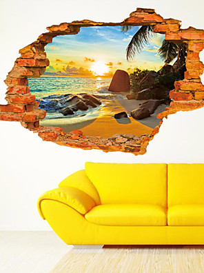 Botanisk / Tegneserie / Romantik / Still Life / Spejle / Fashion / Højtid / Transport / 3D Wall Stickers 3D mur klistermærkerDekorative