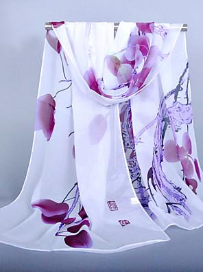 Damer Vintage / Fest / Kontor / Casual Chiffon Halstørklæde