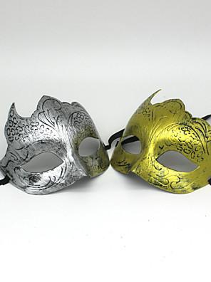 Halloween Props Pohádkové Festival/Svátek Halloweenské kostýmy Zlatá / Stříbrná Jednobarevné MaskaHalloween / Vánoce / Karneval / Nový