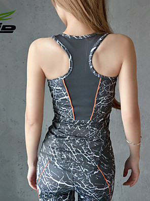 Ioga tops Calças + Tops Respirável / Materiais Leves Stretchy Wear Sports Mulheres - HTLD Ioga