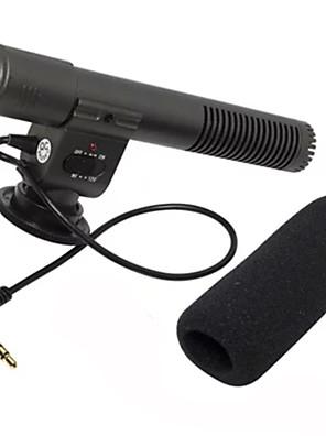 """מיקרופון מיקרופון קלטת סטריאו חיצוני עבור מצלמות SLR עם ממשק אודיו 3.5 מ""""מ מיקרופון"""