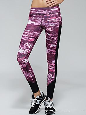 ריצה מכנסיים / טייץ רכיבה על אופניים / חותלות / תחתיות לנשים נושם / ייבוש מהיר / דחיסה / חומרים קלים 100% פוליאסטריוגה / פילאטיס / כושר