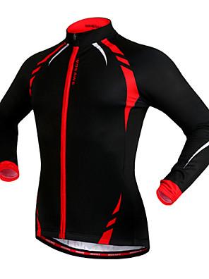 Wosawe® ג'קט לרכיבה יוניסקס שרוול ארוך אופניים שמור על חום הגוף / עמיד / בטנת פליז / רצועות מחזירי אור / נגד החלקה ג'רזי / ג'קט / צמרות