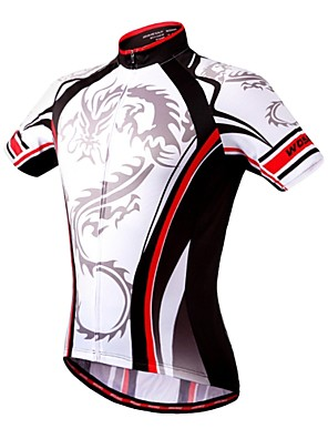 Wosawe® חולצת ג'רסי לרכיבה לנשים / לגברים / יוניסקס שרוול קצר אופניים נושם / ייבוש מהיר / דחיסה / כיס אחוריסווטשירט / אימונית / שכבות