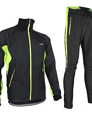 Arsuxeo® ג'קט ומגנסיים לרכיבה לגברים שרוול ארוך אופניים נושם / שמור על חום הגוף / עמיד / עיצוב אנטומי / בטנת פליז / רוכסן עמיד למים / לביש